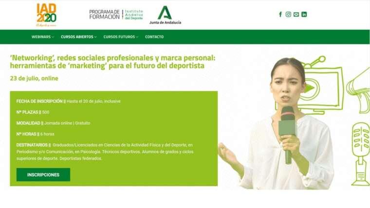 Jornada online para el Instituto Andaluz de Deporte